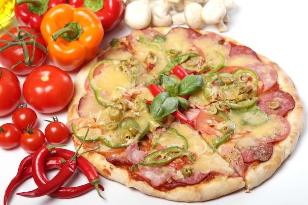 Pizza fresca y sabrosa