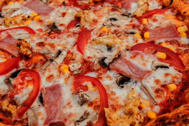 Pizza de peperoni. visita mi pagina usted podrá