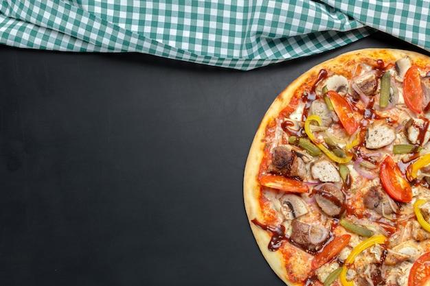Pizza en la pizarra
