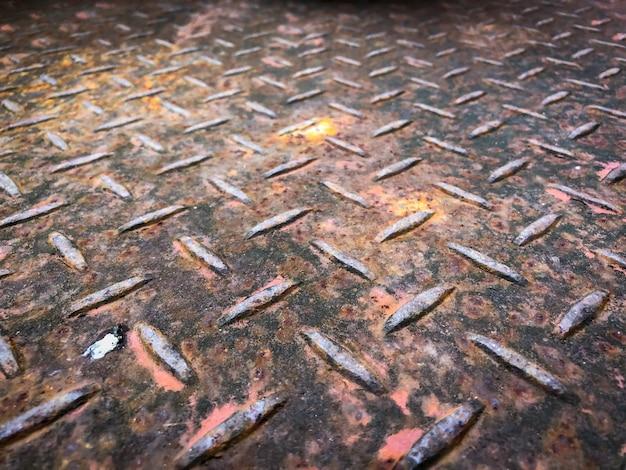 Placa de acero con fondo oxidado como textura
