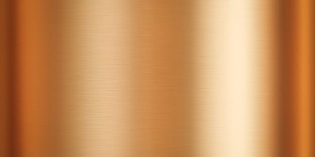 Placa de acero de metal dorado y fondo de textura metálica con superficie de material dorado patrón brillante. representación 3d.