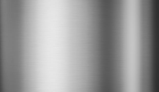 Placa de acero de metal plateado y fondo de textura metálica con superficie de material inoxidable de patrón brillante. representación 3d.