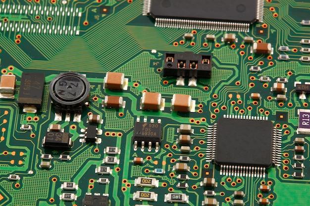 Placa de circuito micro de la computadora