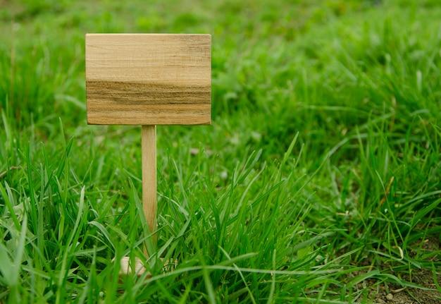 Placa de madera, letrero de madera