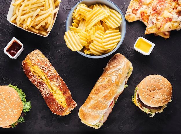 Plana pone comida deliciosa poco saludable