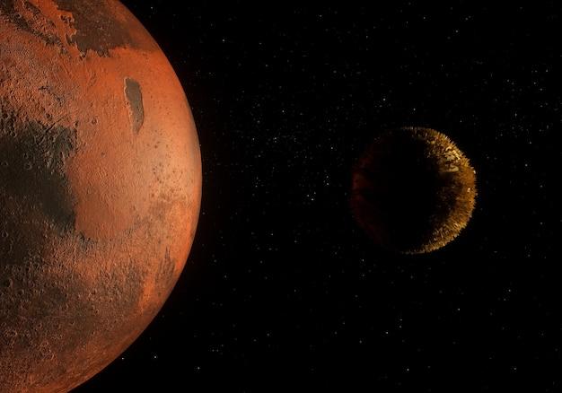 Planeta en el espacio profundo