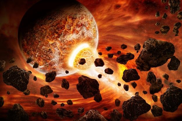 Planeta explosión apocalipsis