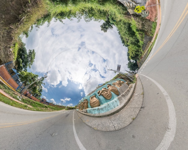 Planeta quimbaya. fisheye