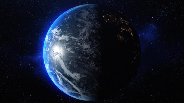 Planeta tierra en el espacio: elementos de esta imagen proporcionada por la nasa.