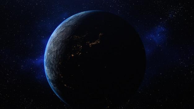 Planeta tierra en el espacio.