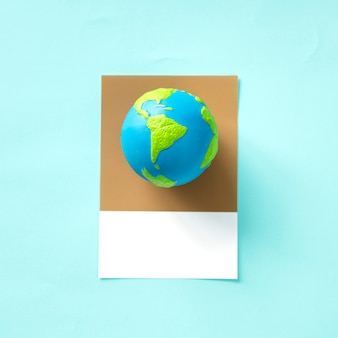 Planeta tierra objeto de juguete globo
