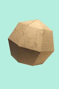 Planeta tierra poligonal planeta papel