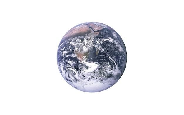 Planeta tierra sobre un fondo blanco aislado