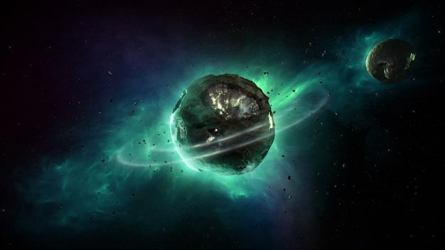 Planeta en el universo