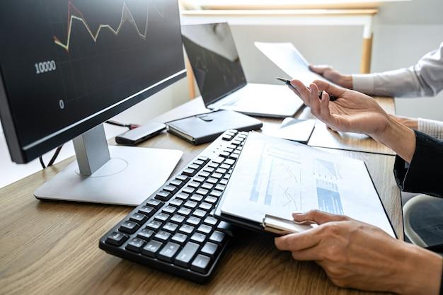 Planificación y análisis de comercio de bolsa de valores gráfico
