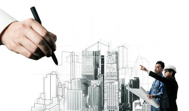 Planificación civil de la ciudad y desarrollo inmobiliario.