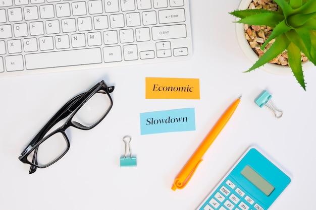 Plano de concepto de economía