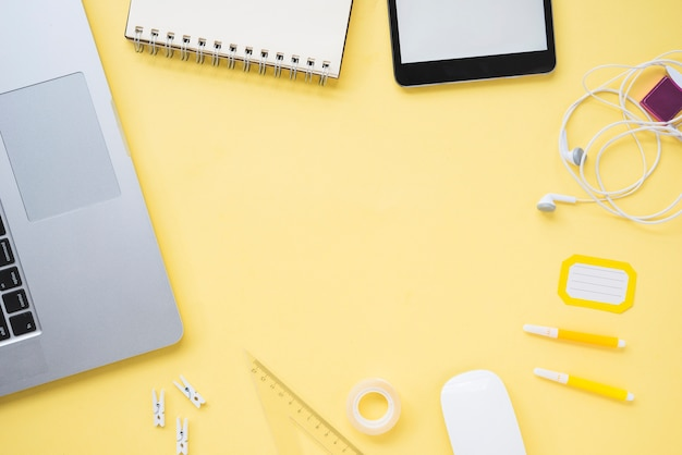 Plano del espacio de trabajo con espacio de copia