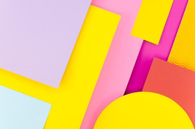 Plano de geometría de papel colorido