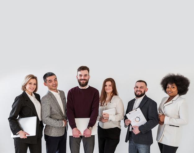 Plano medio de empresarios