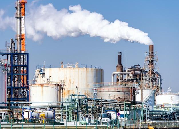 Planta de fábrica química