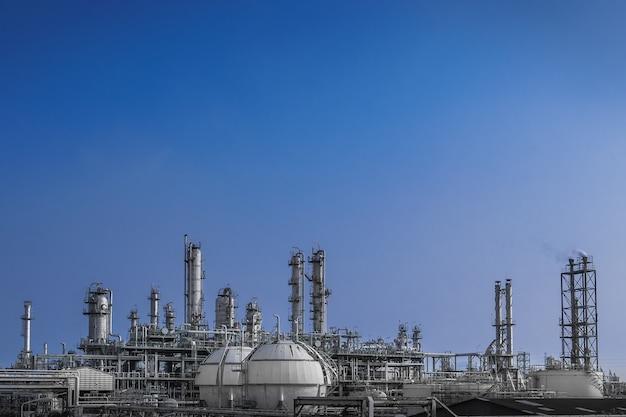 Planta de refinería de petróleo y gas