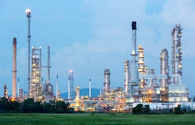 Planta de refineria de petroleo
