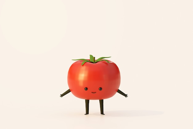 Planta de tomate estilo de dibujos animados divertido