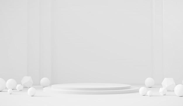 Plantilla blanca etapa del producto fondo actual