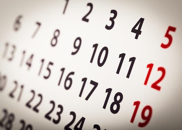 Plantilla de calendario organizador, telón de fondo