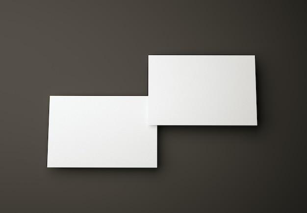 Plantilla de diseño de dos tarjetas de visita en negro