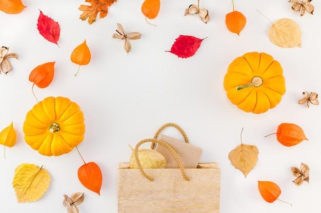 Plantilla de promoción otoño otoño venta de acción de gracias