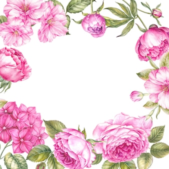 Plantilla de tarjeta botánica.
