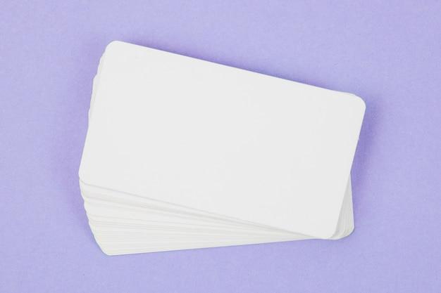 Plantilla de tarjeta de visita en blanco