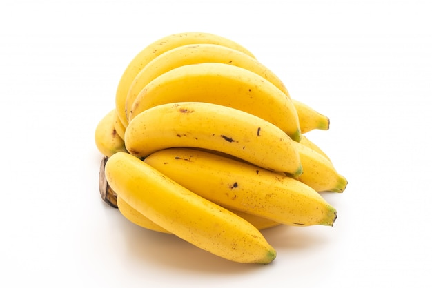 Plátano aislado sobre fondo blanco.