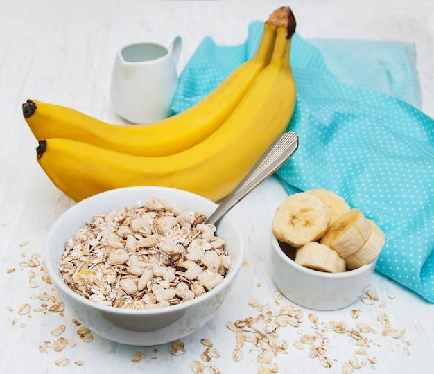 Plátano y muesli