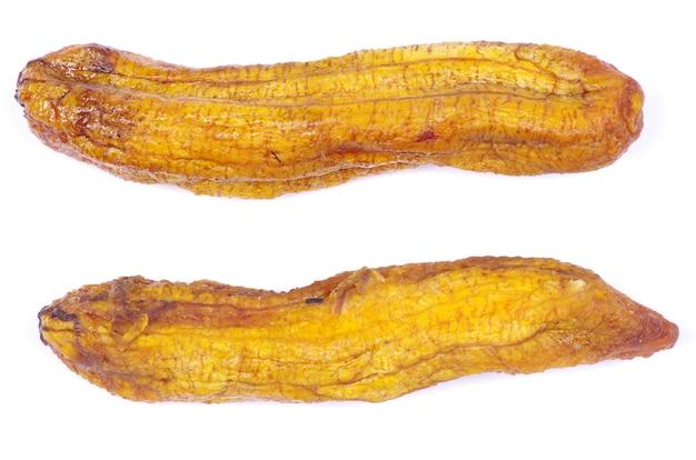 Plátanos aislados sobre fondo blanco