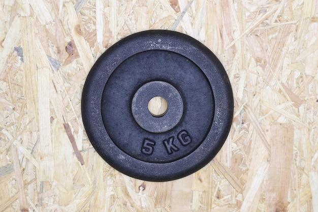 Plato de 5 kilos de peso