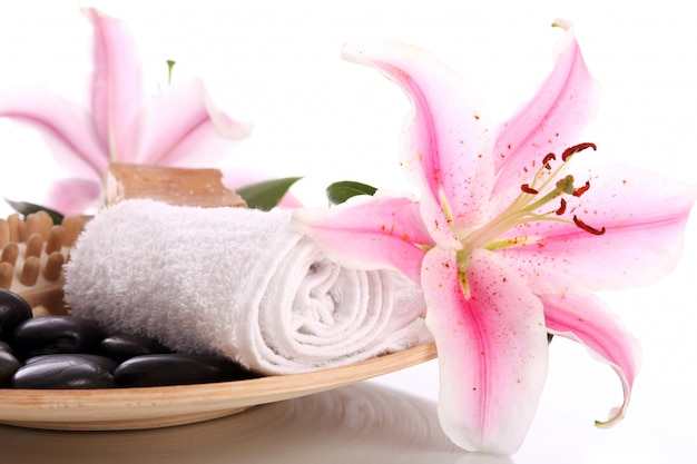 Plato con algún inventario para masaje