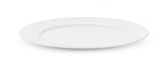 Plato de ceramica blanca