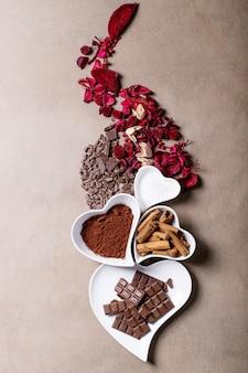 Platos de cerámica de san valentín