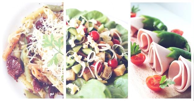 Platos de comida sana