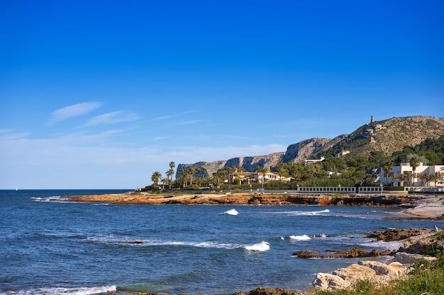Playa denia las rotas en primavera en alicante