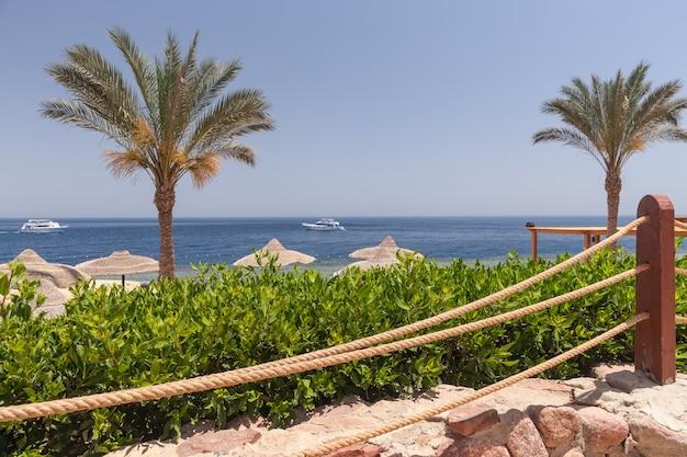 Playa en el hotel de lujo, sharm el sheikh, egipto