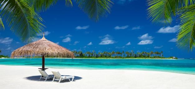 Playa, en, maldivas