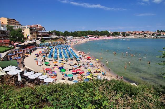 La playa de sozopol, costa del mar negro, bulgaria