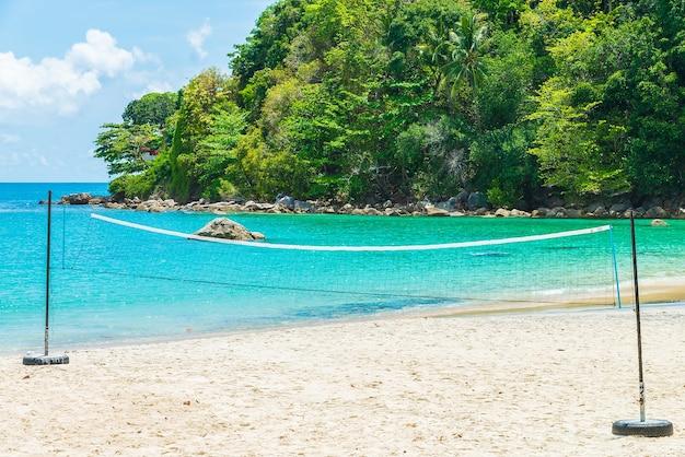 Playa tropical y el mar
