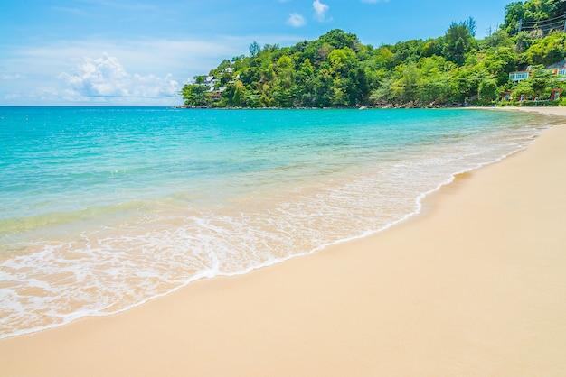 Playa tropical y mar