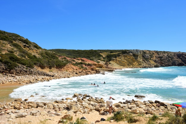 Playa de zavial, vila do bispo, algarve, portugal