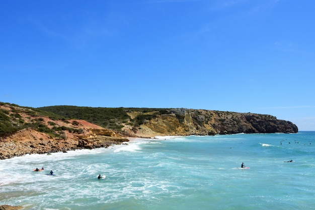 Playa zavial, vila do bispo, algarve, portugal